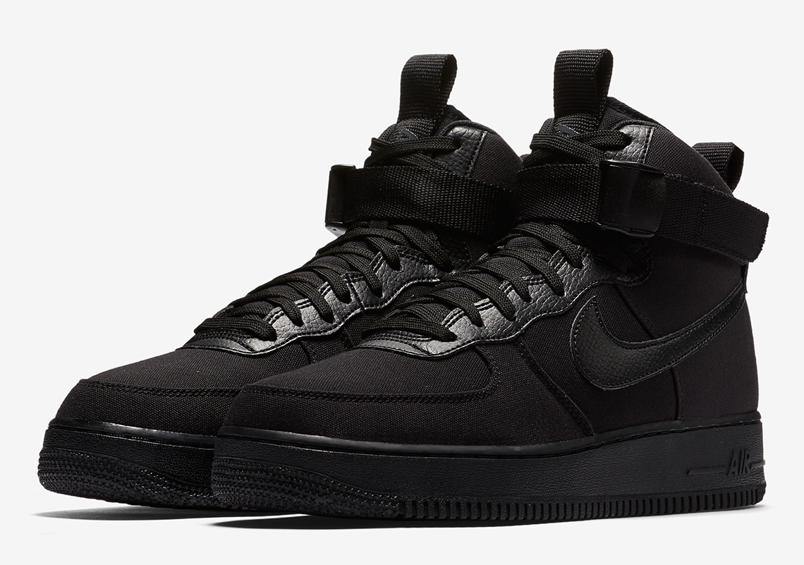nike air force 1 black high top