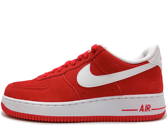 nike air force 1 red and white