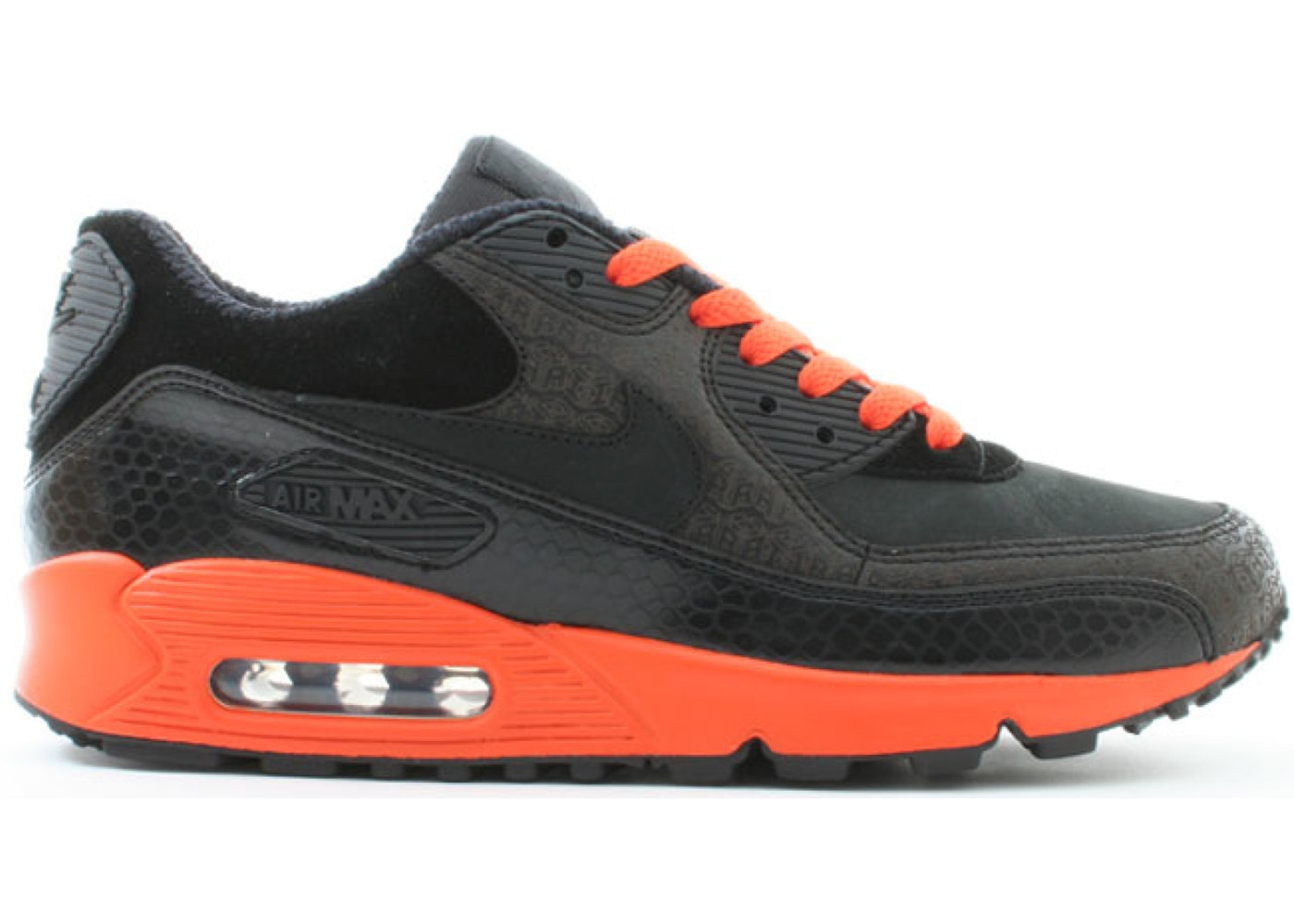 nike air max 90 black and orange