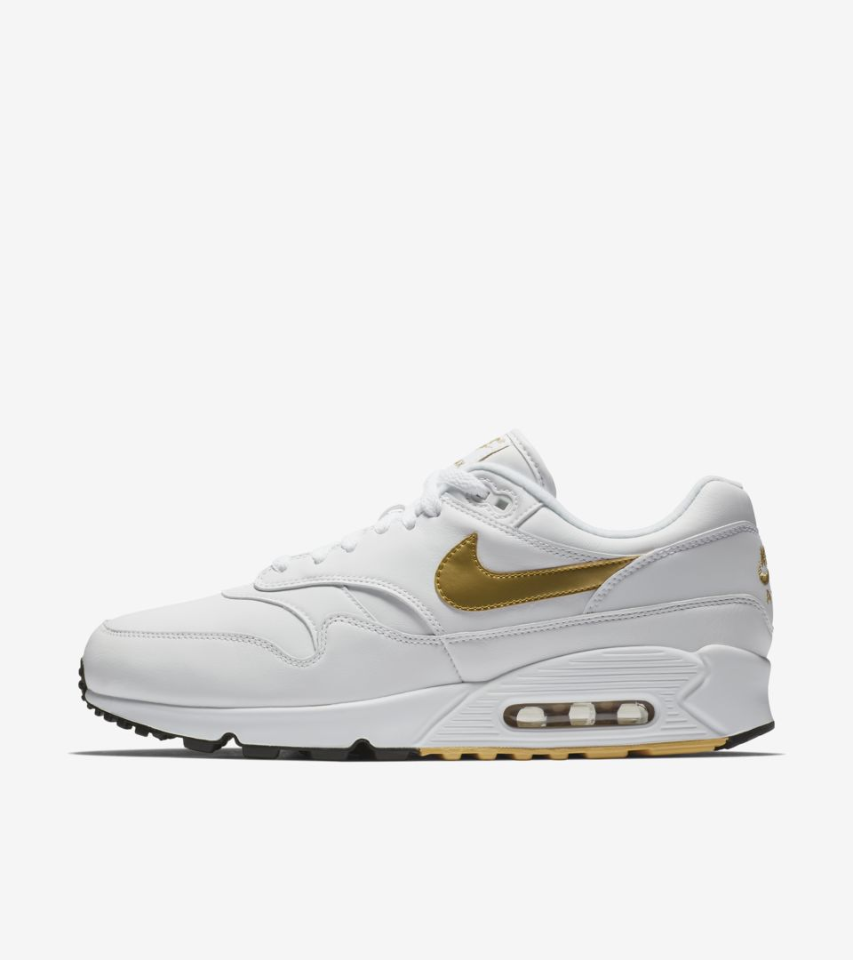 nike air max white and gold