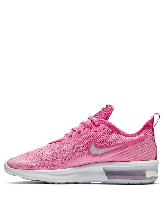 pink and white nike air max